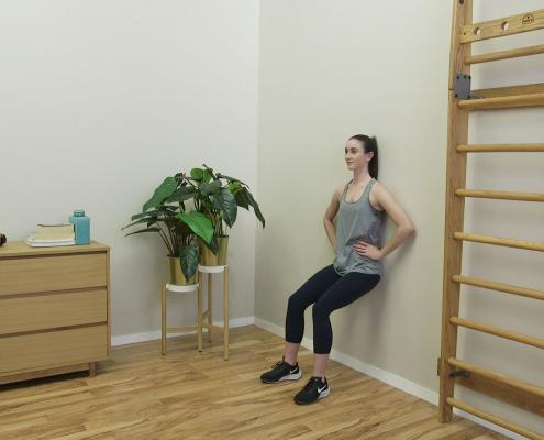 Wall Squat For Knee Pain Robina Physio